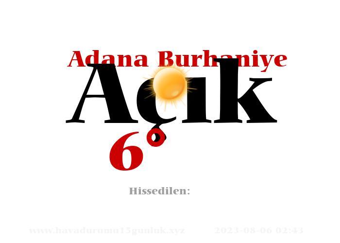 Adana Burhaniye Hava Durumu