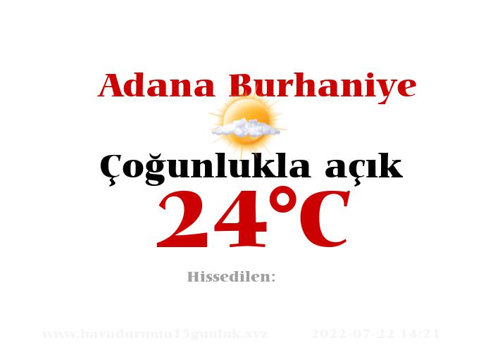 Hava Durumu Adana Burhaniye