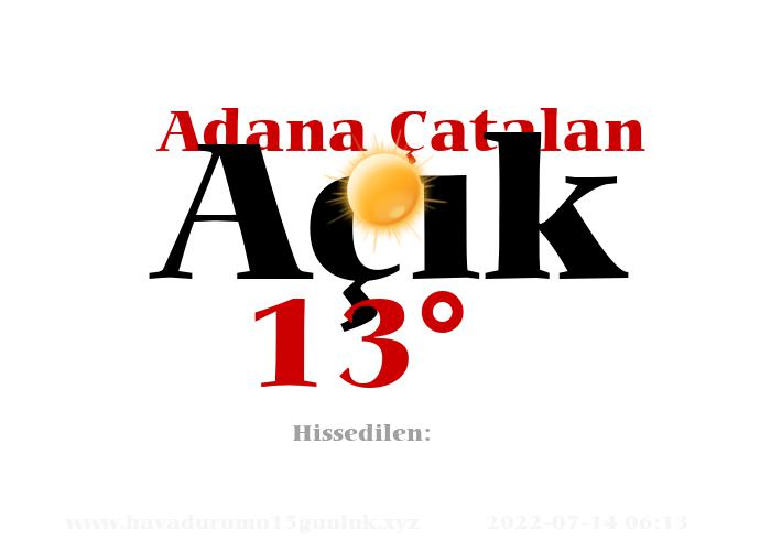 Adana Çatalan Hava Durumu
