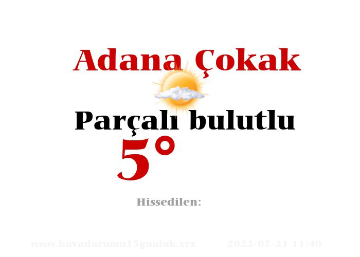 Adana Çokak Hava Durumu
