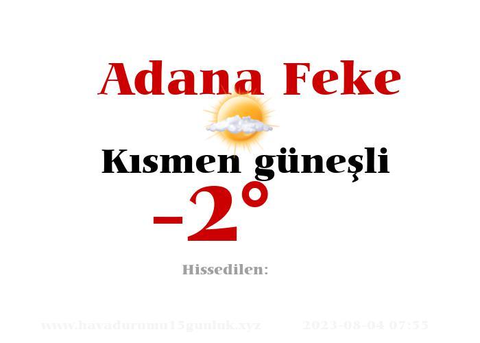 Adana Feke Hava Durumu