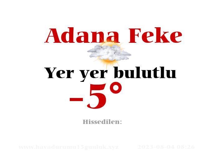 adana-feke hava durumu