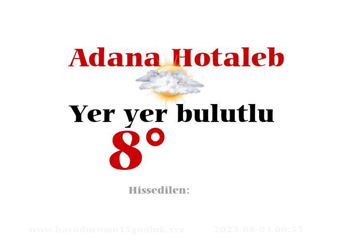 adana-hotaleb hava durumu