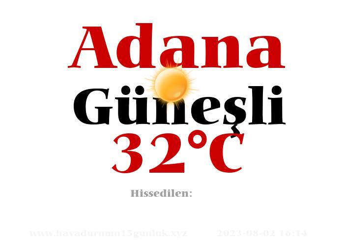 Hava Durumu Adana