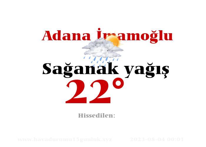 adana-imamoglu hava durumu
