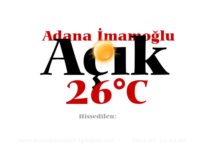 Hava Durumu Adana İmamoğlu