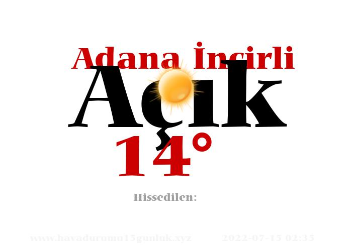 Adana İncirli Hava Durumu