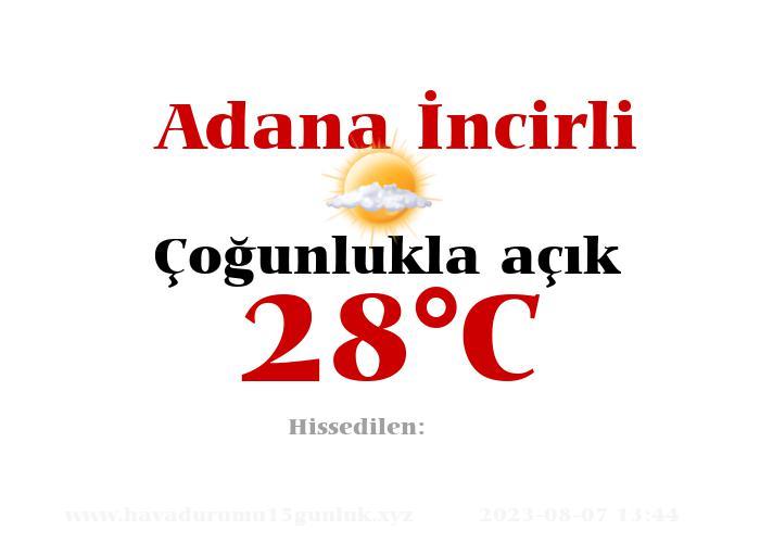Hava Durumu Adana İncirli