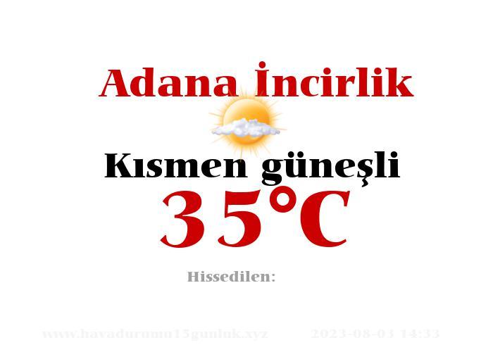 Hava Durumu Adana İncirlik