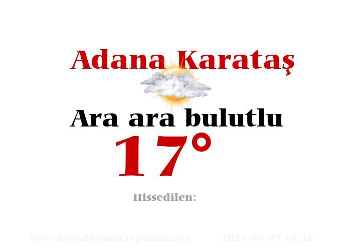 adana-karatas hava durumu