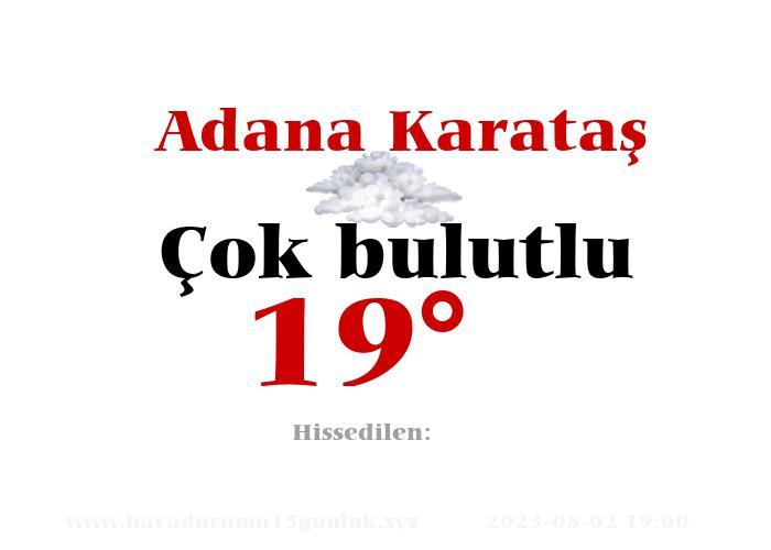 Adana Karataş Hava Durumu