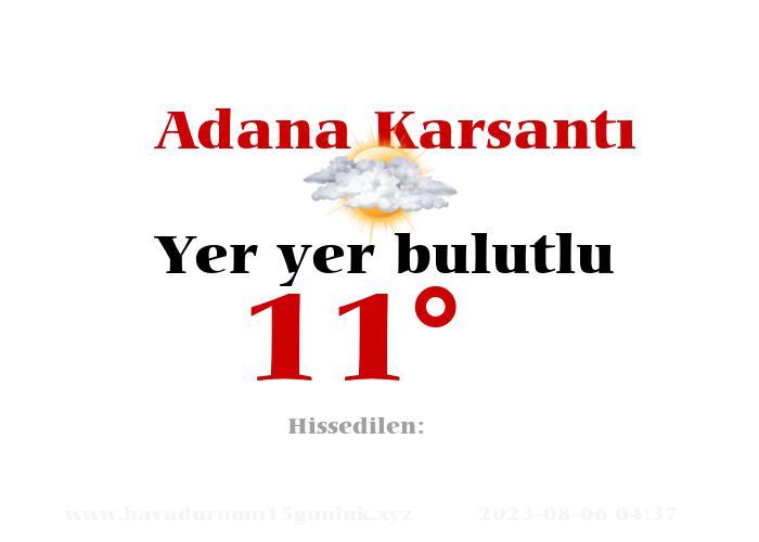Adana Karsantı Hava Durumu
