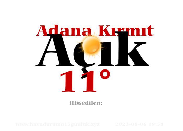 Adana Kırmıt Hava Durumu