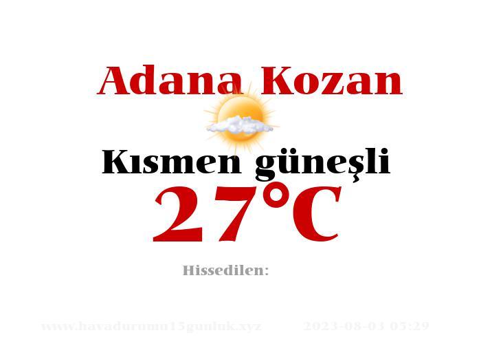 Hava Durumu Adana Kozan