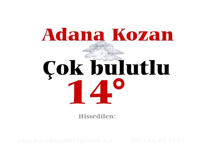 Adana Kozan Hava Durumu
