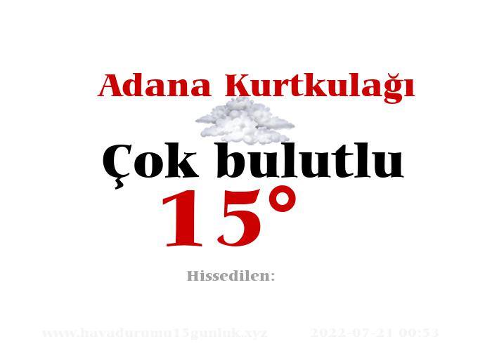 Adana Kurtkulağı Hava Durumu
