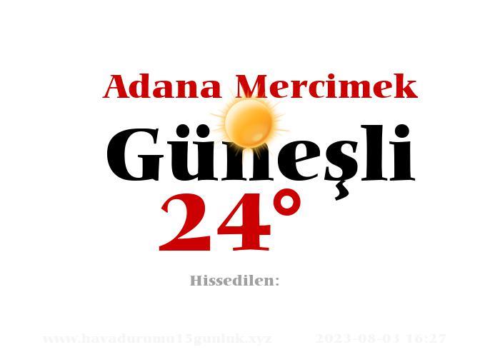 Adana Mercimek Hava Durumu