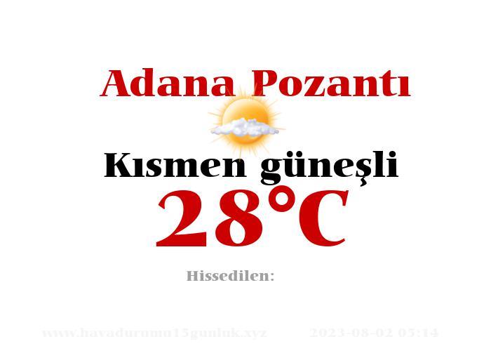 Hava Durumu Adana Pozantı