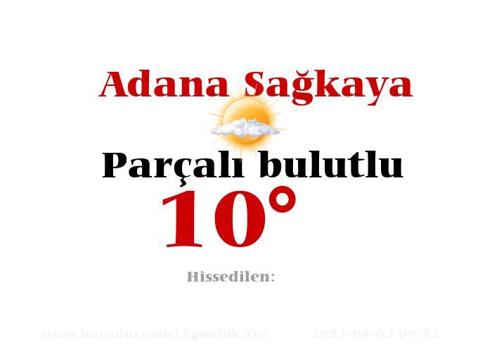 Adana Sağkaya Hava Durumu