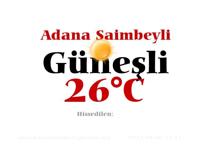 Hava Durumu Adana Saimbeyli