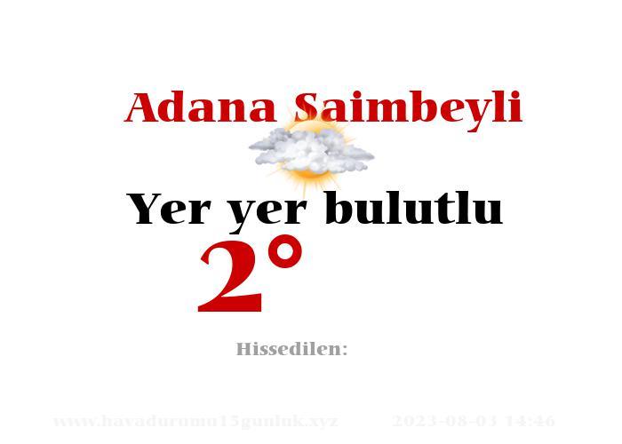 Adana Saimbeyli Hava Durumu