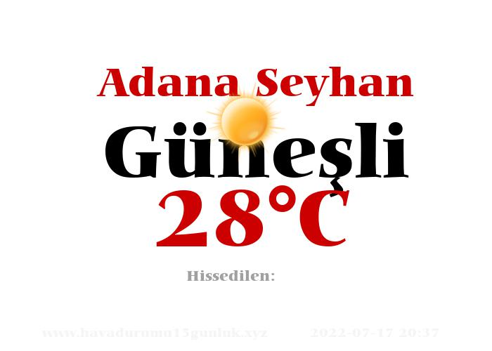 Hava Durumu Adana Seyhan