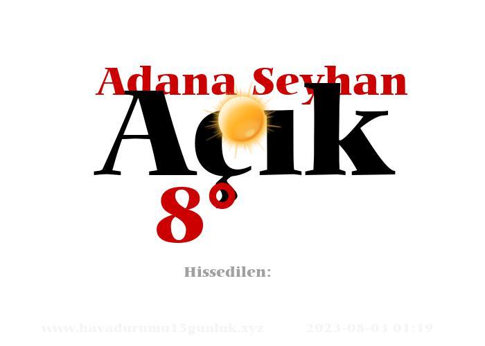 Adana Seyhan Hava Durumu