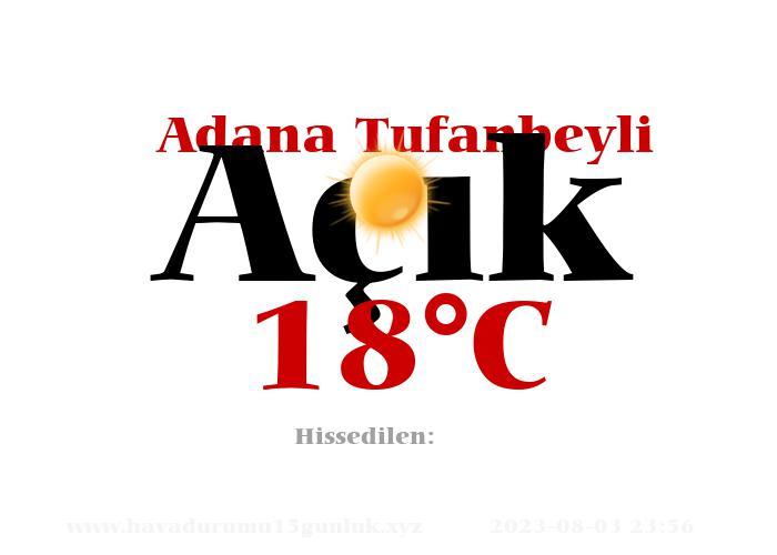 Hava Durumu Adana Tufanbeyli