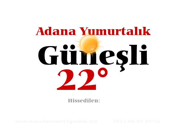 Adana Yumurtalık Hava Durumu