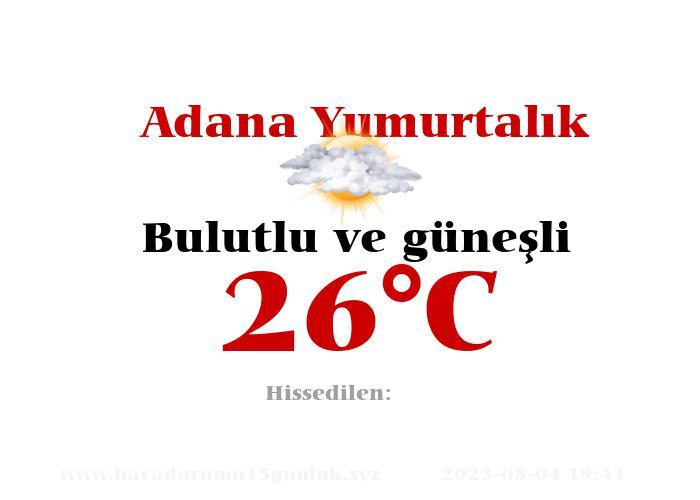 Hava Durumu Adana Yumurtalık