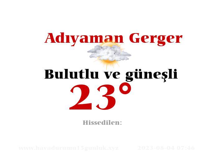 adiyaman-gerger hava durumu