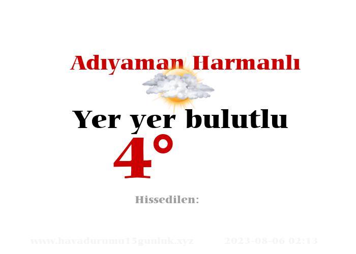 adiyaman-harmanli hava durumu