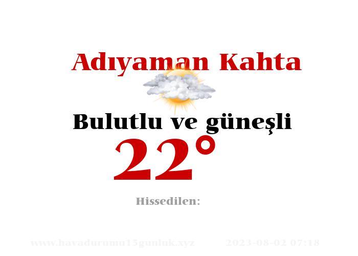 adiyaman-kahta hava durumu