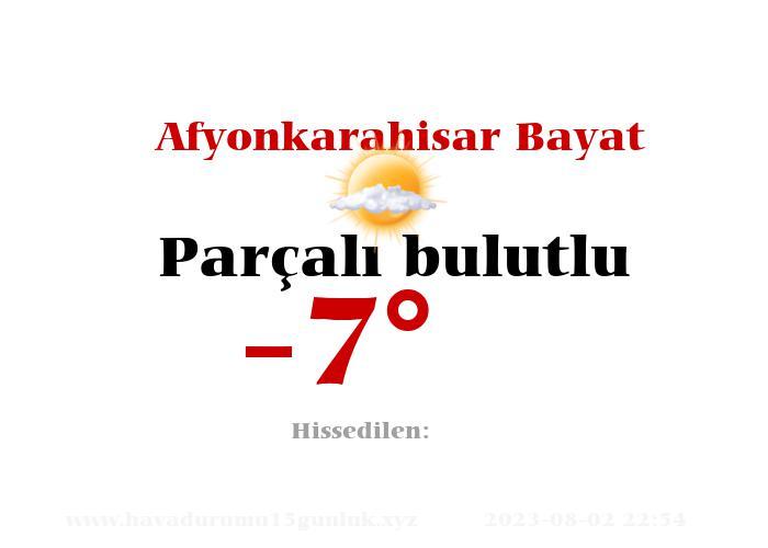 afyonkarahisar-bayat hava durumu