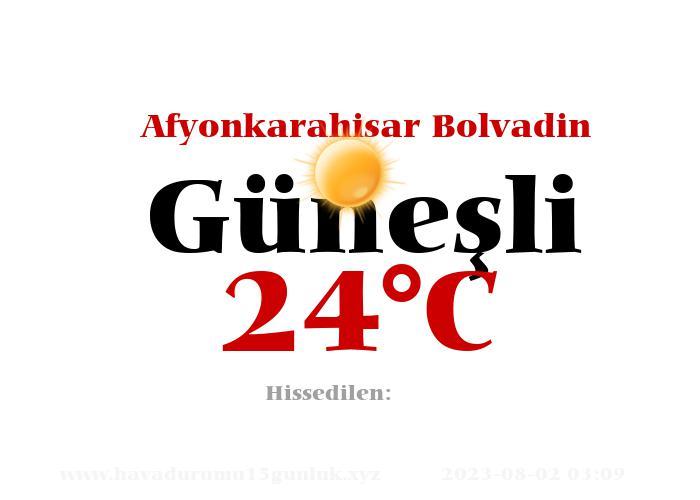 Hava Durumu Afyonkarahisar Bolvadin