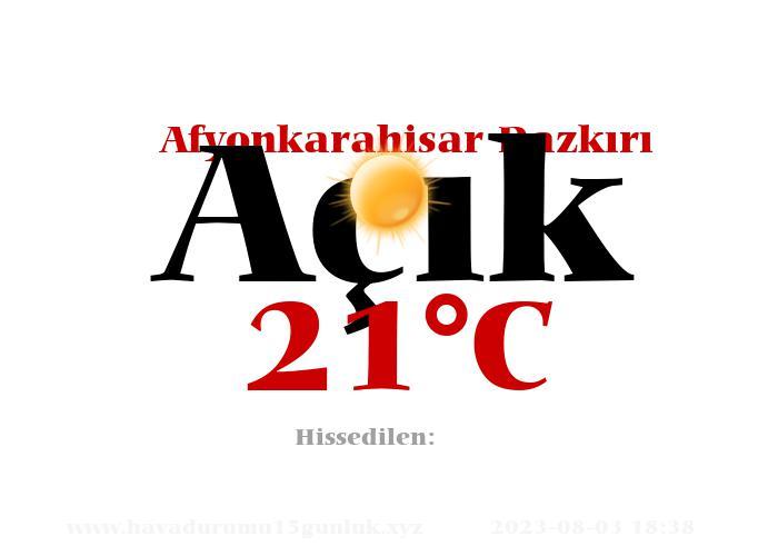 Hava Durumu Afyonkarahisar Dazkırı