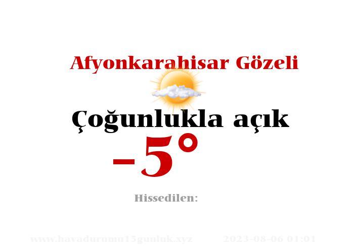 afyonkarahisar-gozeli hava durumu