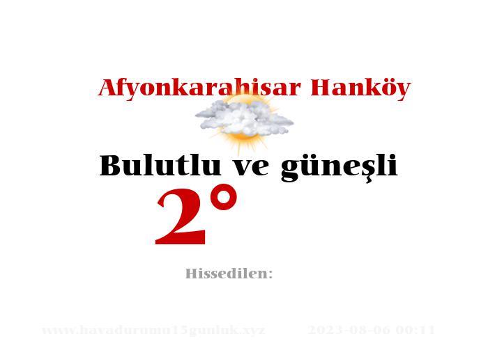 afyonkarahisar-hankoy hava durumu