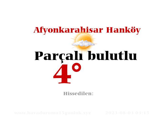 Afyonkarahisar Hanköy Hava Durumu