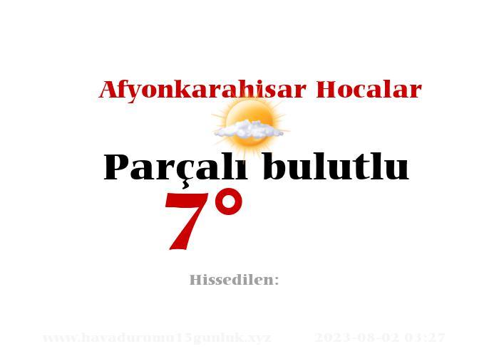 Afyonkarahisar Hocalar Hava Durumu