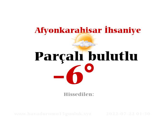 afyonkarahisar-ihsaniye hava durumu