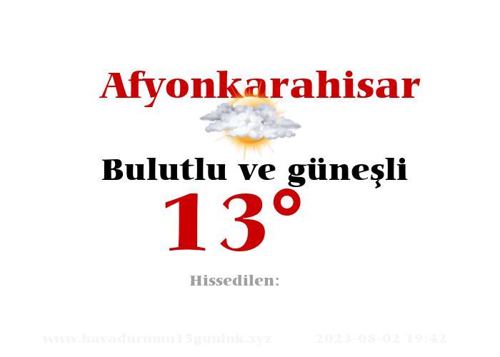 afyonkarahisar hava durumu