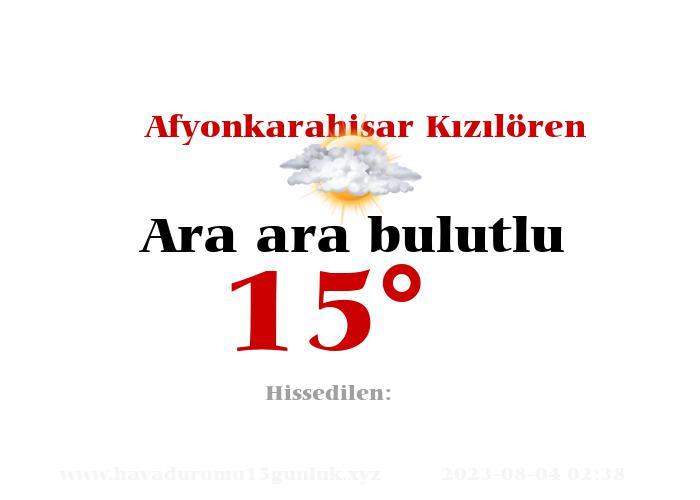 afyonkarahisar-kiziloren hava durumu