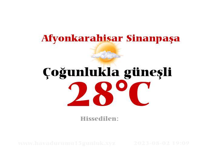 Hava Durumu Afyonkarahisar Sinanpaşa