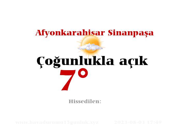 Afyonkarahisar Sinanpaşa Hava Durumu