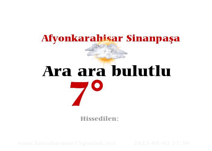 afyonkarahisar-sinanpasa hava durumu