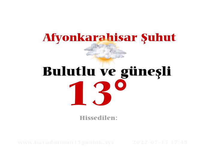 afyonkarahisar-suhut hava durumu