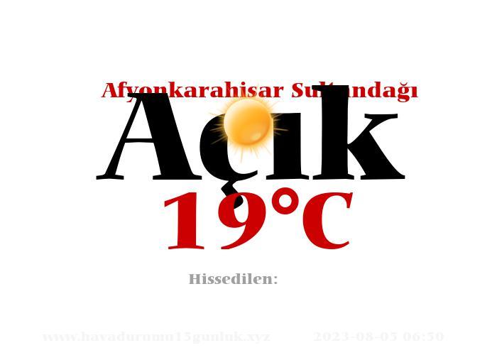 Hava Durumu Afyonkarahisar Sultandağı