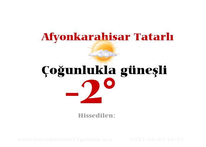 afyonkarahisar-tatarli hava durumu
