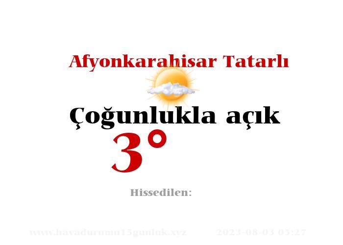Afyonkarahisar Tatarlı Hava Durumu